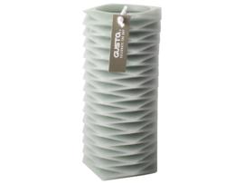 Figuurkaars Zigzag - Groen 15.5 cm - Gusta