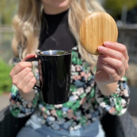 Theemok Bamboe met filter - Zwart - 400 ml - Bredemeijer