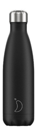 Chilly's Bottle - Black Matte - 500 ml