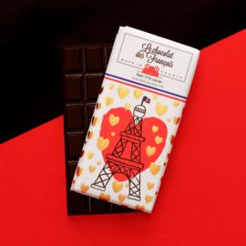 Chocolade - La Tour Eiffel Coeur - Puur -  Le Chocolat des Français