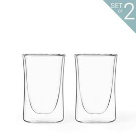 Dubbelwandige Theeglazen 'Classic Curve' 0,2 liter - set van 2 stuks - Viva Scandinavia