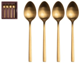 Theelepels 4 delig - Goud - Gusta