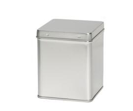 Theeblik vierkant  - Zilver