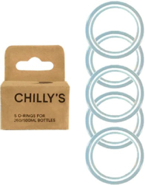 Chilly's Bottle - Box of 5 O-rings for 260 & 500ml bottles