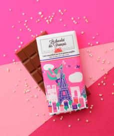 Chocolade - Le Crocodile - Melk Crispy Cereal -  Le Chocolat des Français
