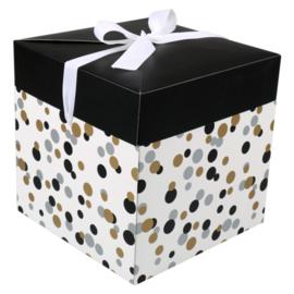 Cadeau Verpakking Deluxe Cadeaubox Confetti