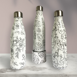 Chilly's Bottle - Line Art Faces - 500 ml