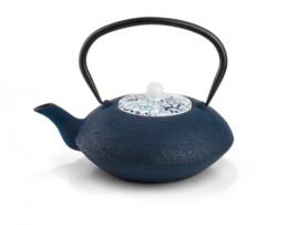 Theepot 'Yantai' - Gietijzer 1,2 liter - Donkerblauw - Bredemeijer