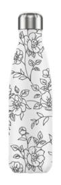 Chilly's Bottle - Line Art Flowers - 500 ml