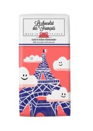 Chocolade - La Tour Eiffel Nuages - Melk Amandel -  Le Chocolat des Français
