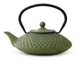 Theepot 'Xilin' - Gietijzer 1,25 liter - Groen - Bredemeijer