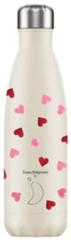 Chilly's Bottle - Pink Hearts - 500 ml