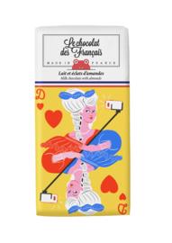 Chocolade - Marie Antoinette - Melk Amandel -  Le Chocolat des Français