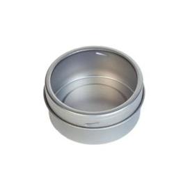 Magnetisch rond vensterblikje - zilver