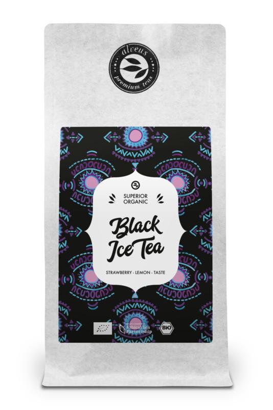 Zwarte ijsthee - Aardbei Citroen
