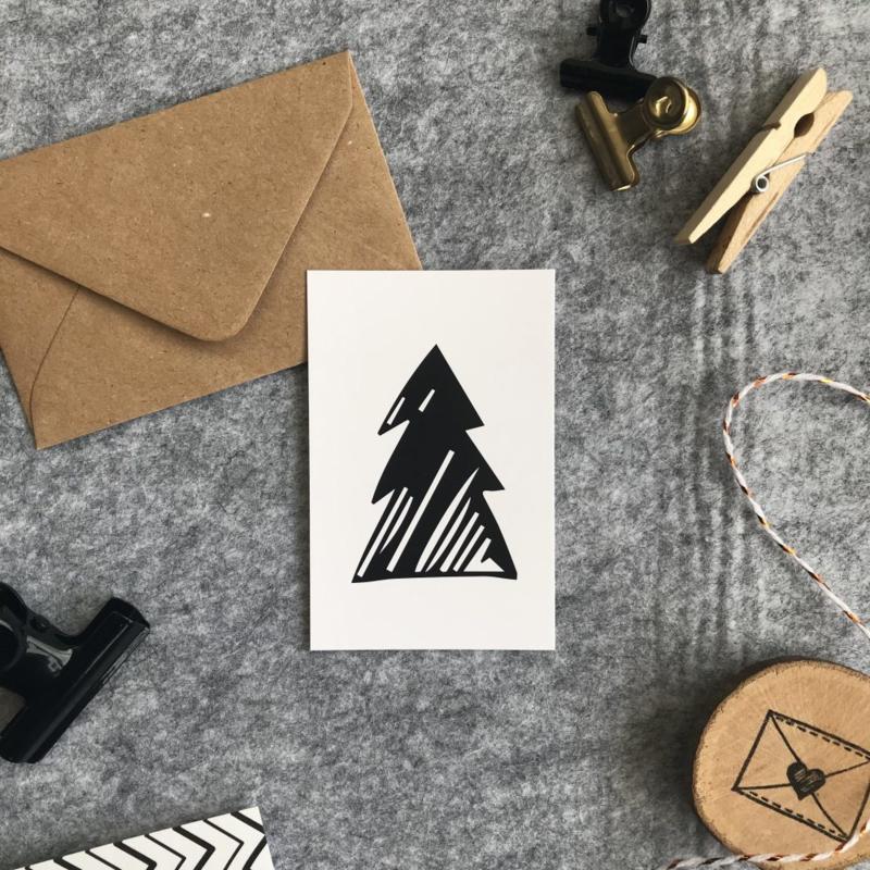 Minikaart - Kerstboom