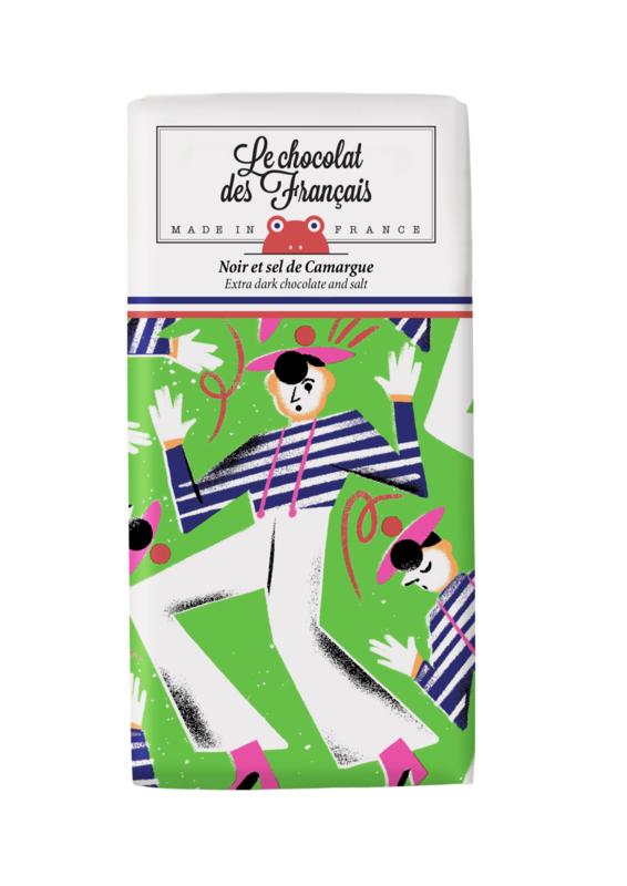 Chocolade - Mime Marceau - Puur Zeezout -  Le Chocolat des Français