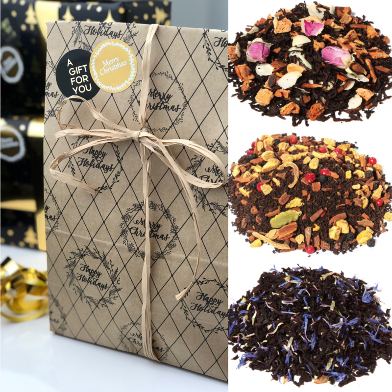 Kerst Cadeau - 3 soorten Zwarte thee