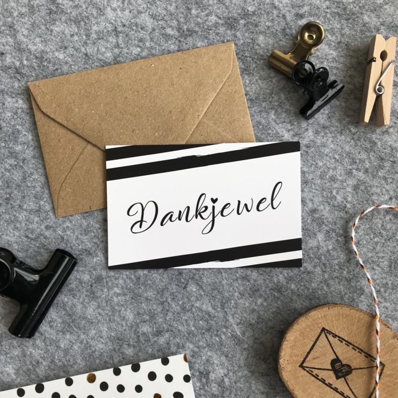 Minikaart - Dankjewel