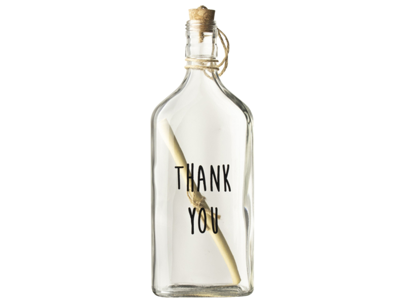 Flessenpost - Thank You