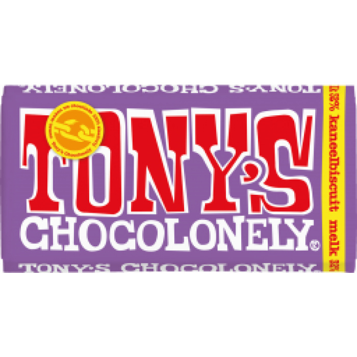 Chocolade - Melk Kaneelbiscuit - Tony's Chocolonely