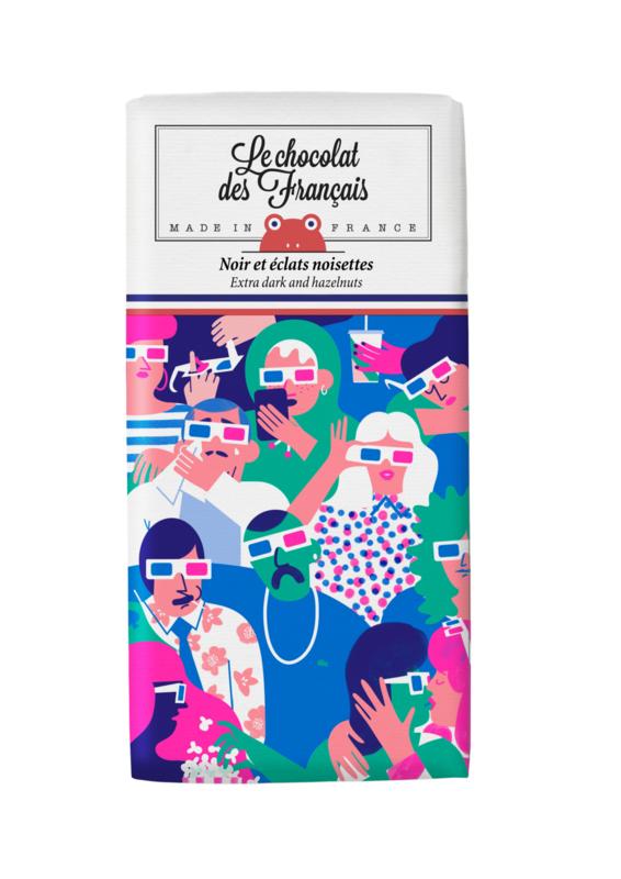 Chocolade - Le Cinéma - Puur Hazelnoot -  Le Chocolat des Français