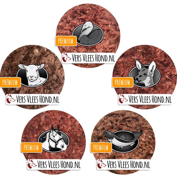 BARFmenu Vers Vlees Hond | Mixdoos 'Premium' | Aanvullende KVV, BARF