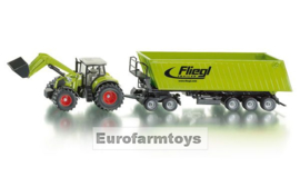 S01949X Claas Axion 850 + dolly + aanhanger