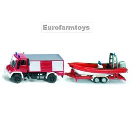 S01636 Unimog brandweer + boot