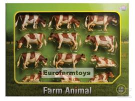 Kidsglobe 571968 rood-bonte koeien set 12st.