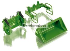 W77381 Voorladerset A JD groen