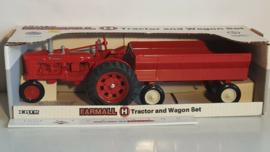 E00297 CIH Farmall H + wagon