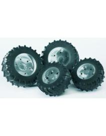 U03317 Dubbellucht wielen grijs