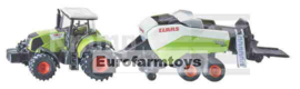 S01852X Claas Axion + Big Baler