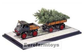O03119 MB Unimog +aanh.+kerstboom