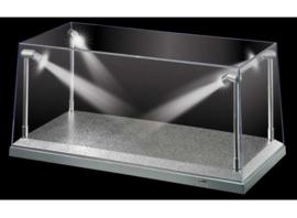 AT32912 led verlichting vitrine zilver