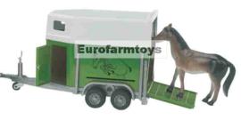 U02028 Paardentrailer + paard