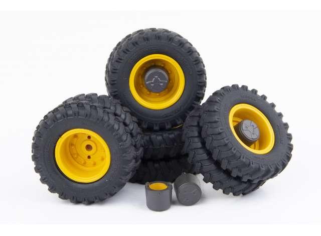 AT3200103 Mitas dual tire+rim+hub set