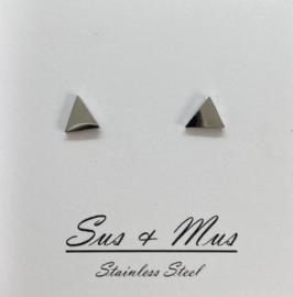Stainless steel zilver driehoekjes