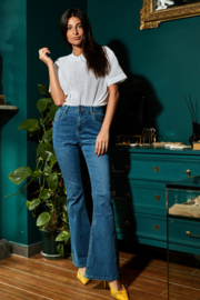 Jeans bootcut donker H21710-1