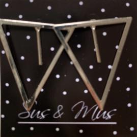 Speciale stekers driehoek met staafje zilver