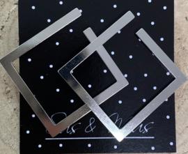 Speciale stekers zilveren vierkanten