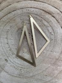 Hangoorbellen mat goud open driehoek