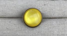 Ring brons geel bol