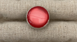 Ring zilver rood