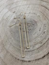 Hangoorbellen mat goud open staven