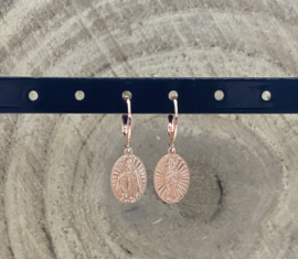 Hangoorbellen stainless steel rosé Maria beeldje