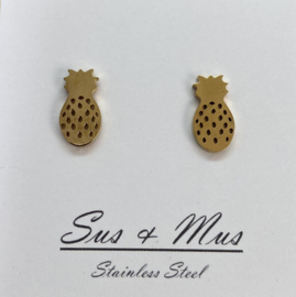 Stainless steel goud ananassen