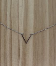 Ketting kort zilver V