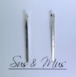 Speciale stekers zilver staafje met inham